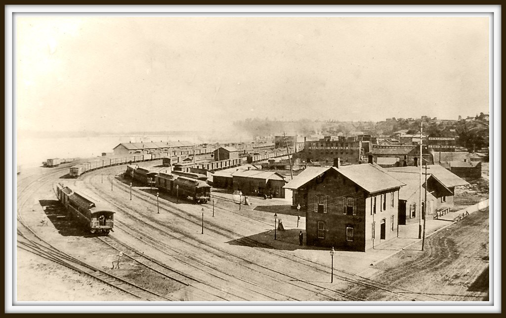 Market Square Burlington Iowa 1873  In 1868 the BMR and