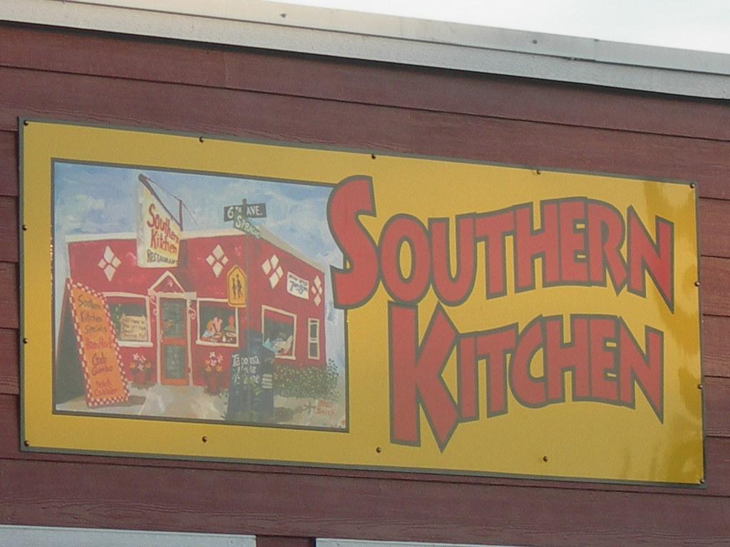 Southern Kitchen Sign  Tacoma Washington A stop on DDD