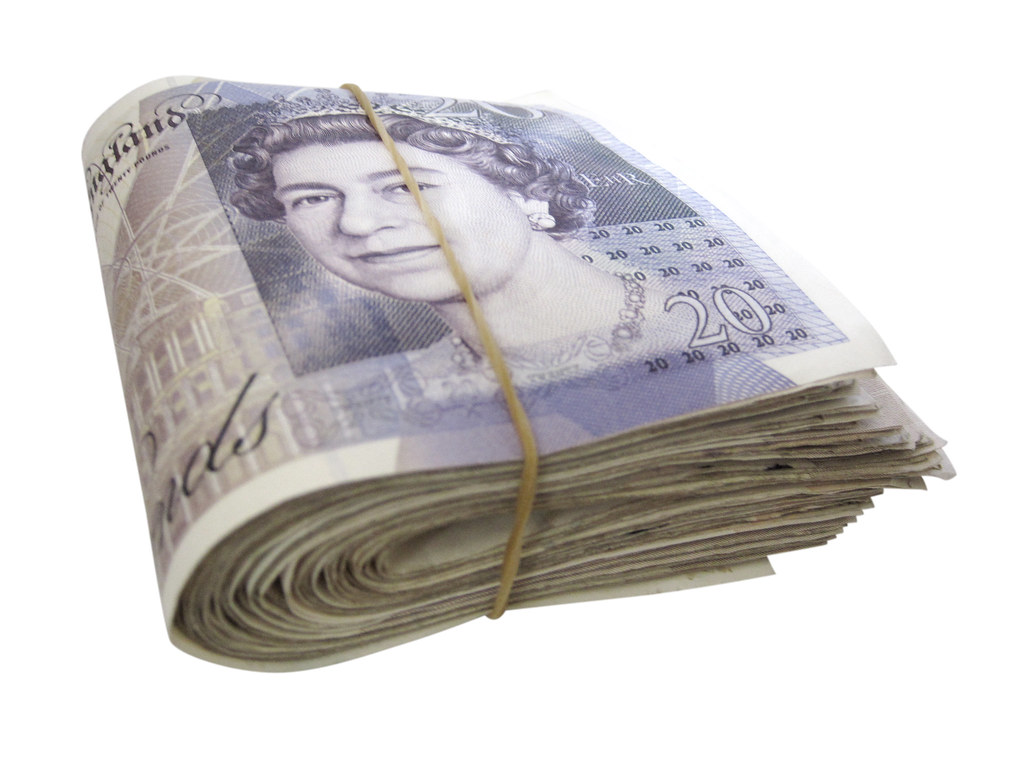 Falling Money 3d Wallpaper Money A Wad Of Twenty Pound Notes Like Much Of Our Work