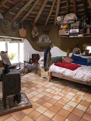 Cob House Gobcobatron  Interior  Updated interior of