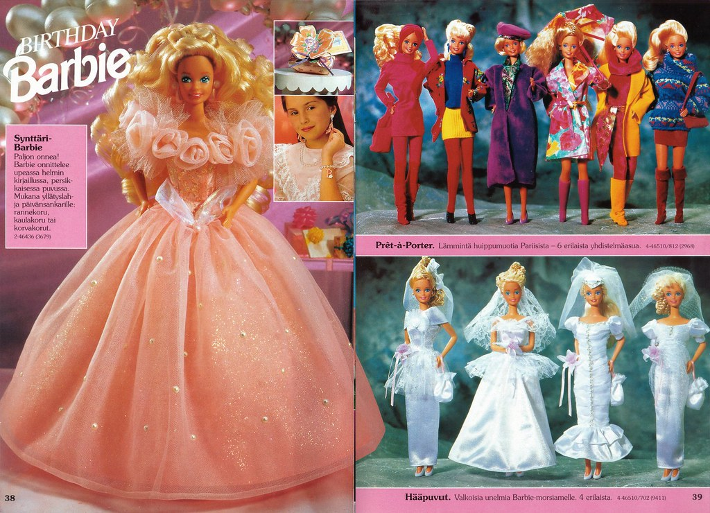 Barbie Journal 1992 Finnish Birthday Barbie 1992; Prêt