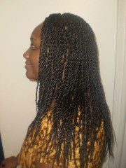 long rope twist hairstyle