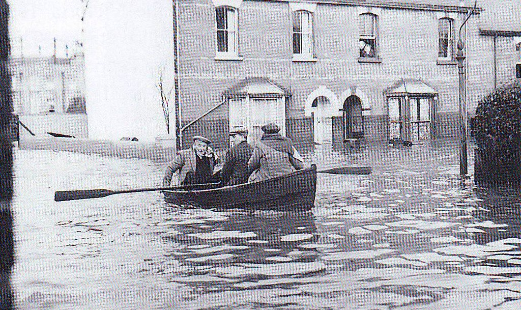 1953 Floods Harwich  I remember walking to school one
