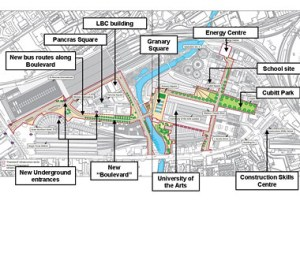 Diagram of the Kings Cross regeneration plans | This is a ma… | Flickr