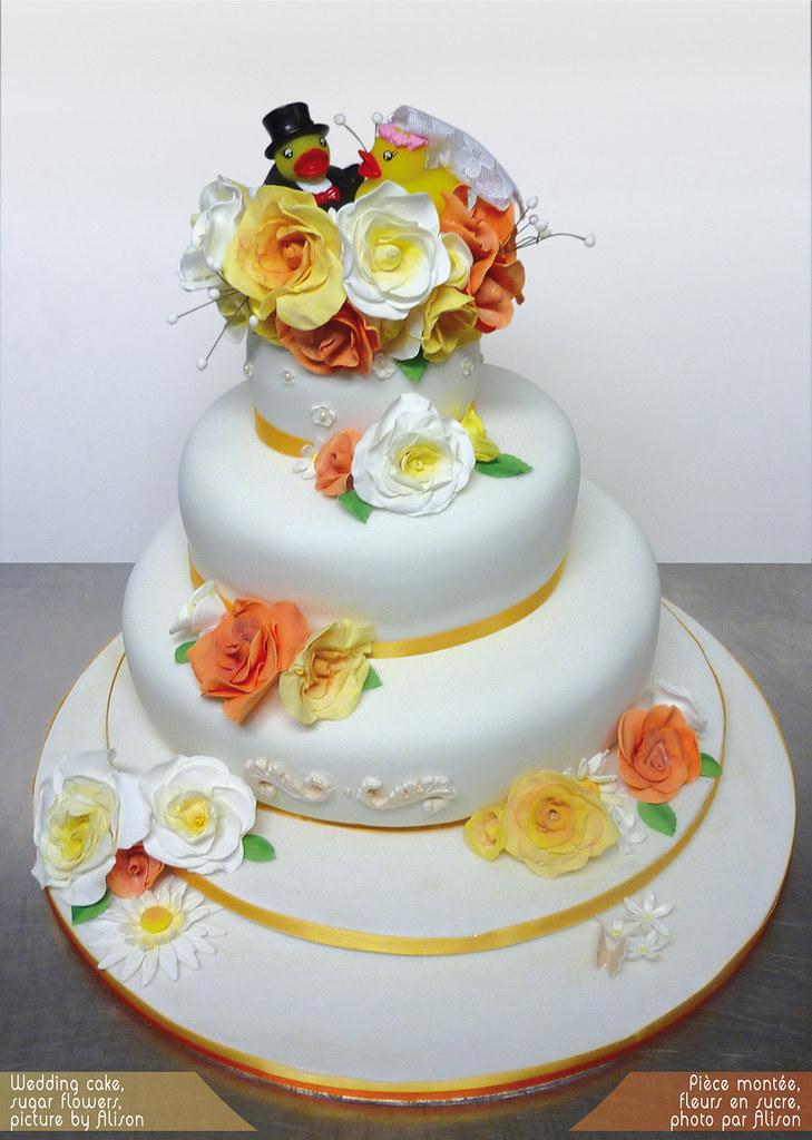 duck wedding cake  Three tier wedding fruit cake with suga  Flickr