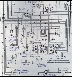 austin healey wiring diagram [ 1024 x 1014 Pixel ]
