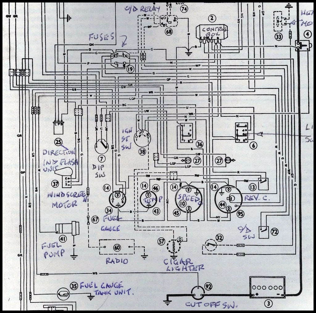 hight resolution of austin healey wiring diagram