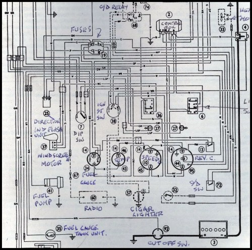 small resolution of austin healey wiring diagram