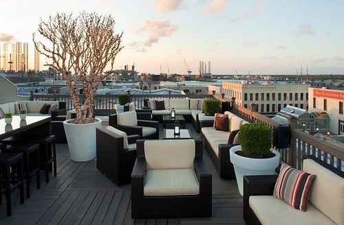 The Rooftop Bar City View From The