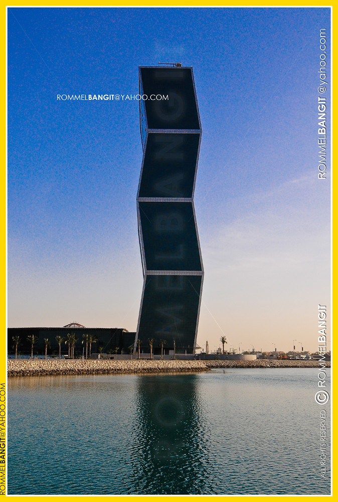 Zig Zag Towers in West Bay Lagoon Plaza in Doha Qatar  by