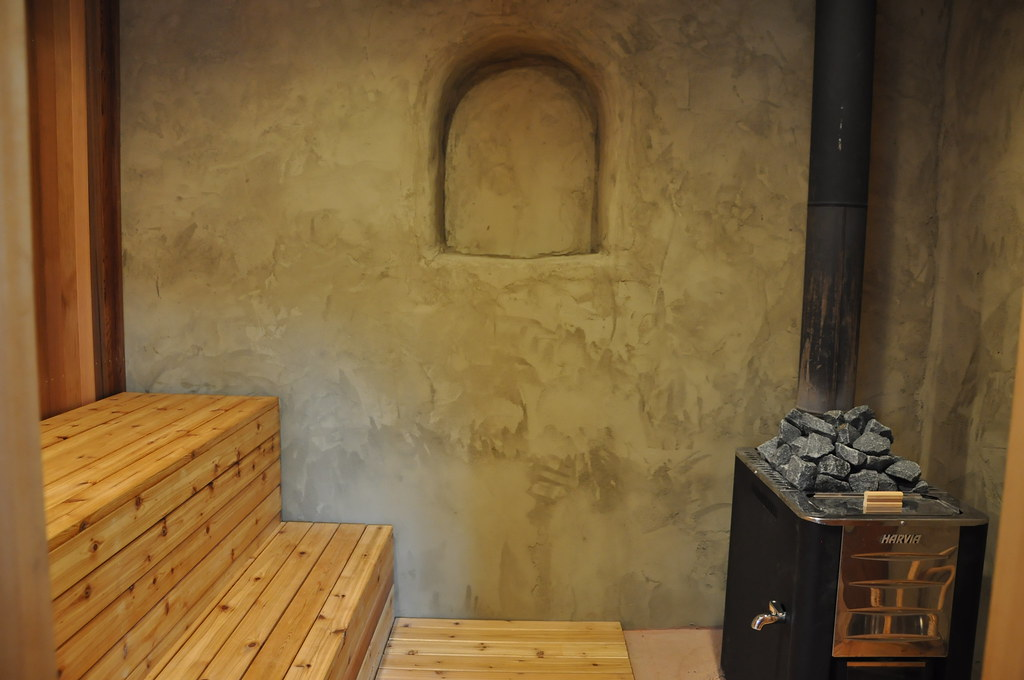 Interior of StrawBale house with American Clay Plaster  Flickr