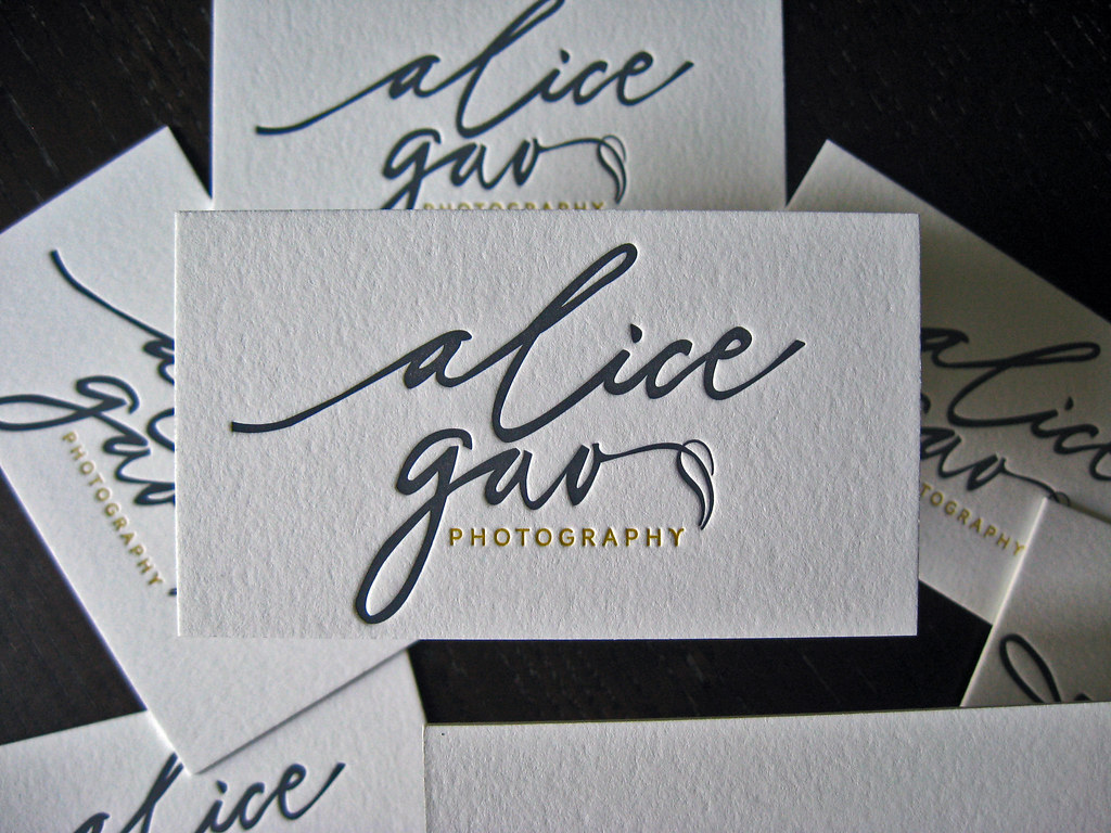 Alica Gao  Letterpress Logo  Client Alice Gao