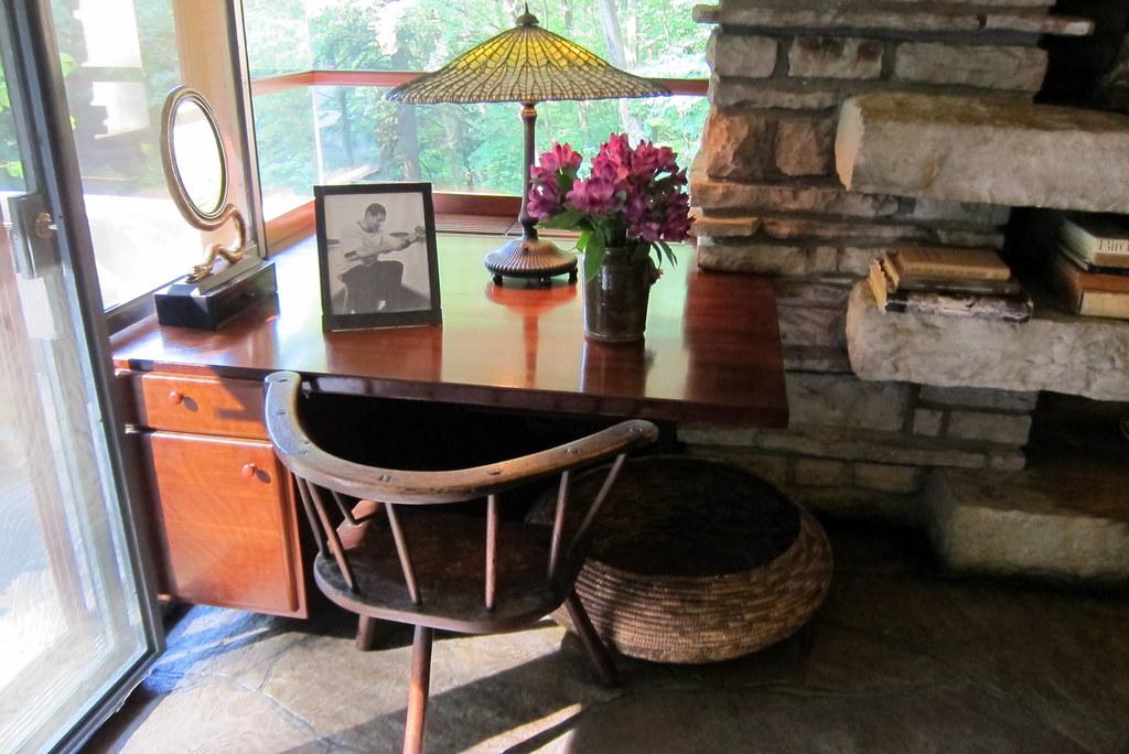 PA  Mill Run Fallingwater Master Bedroom desk  A
