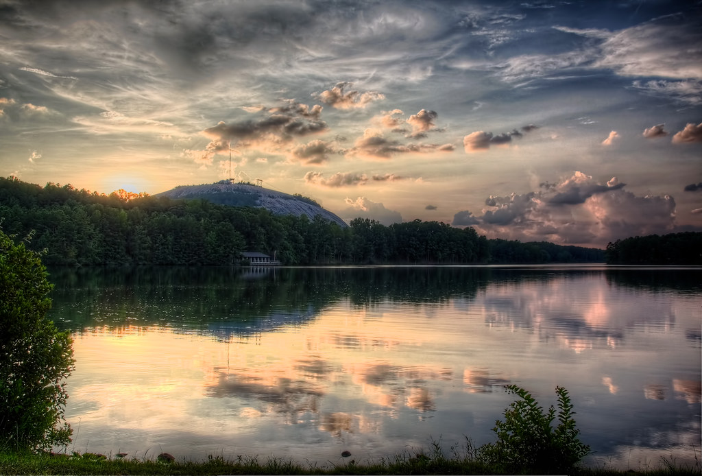 Stone Mountain Lake Sunset  The lake at Stone Mountain