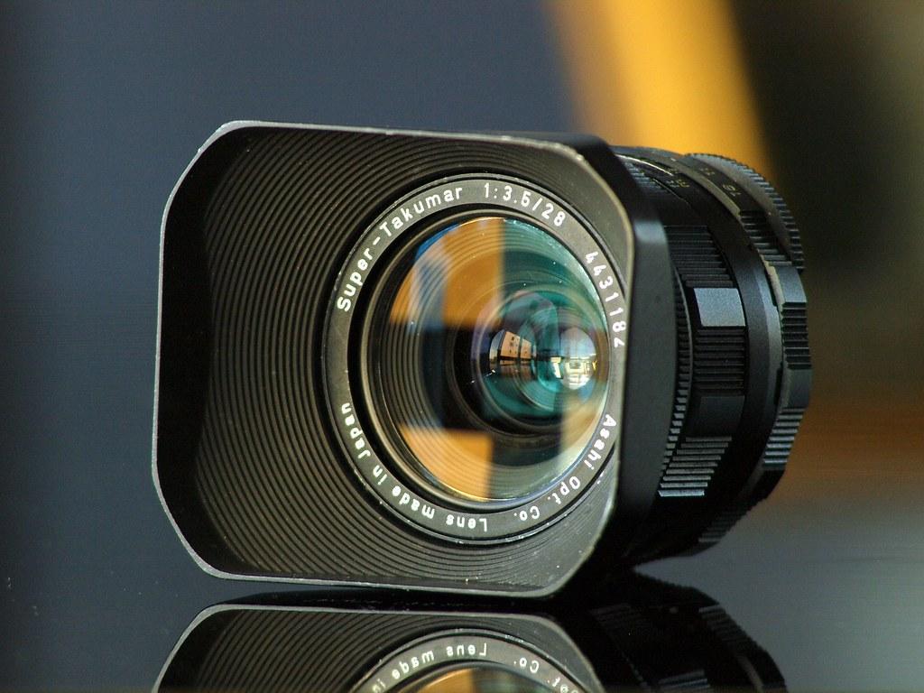SuperTakumar 28mm f35  Got this with the original metal
