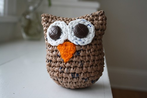 Weeble Wobble Owl Made Entirely Of Recycled Materials