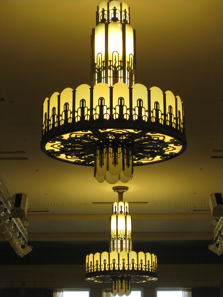 Art Deco Chandeliers  Myer Emporium Mural Hall Bourke St  Flickr