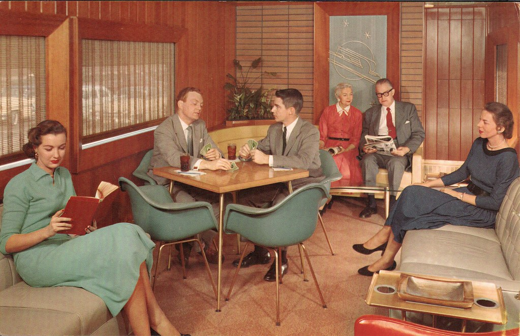 1950s Union Pacific Railroad Redwood Lounge car  Flickr