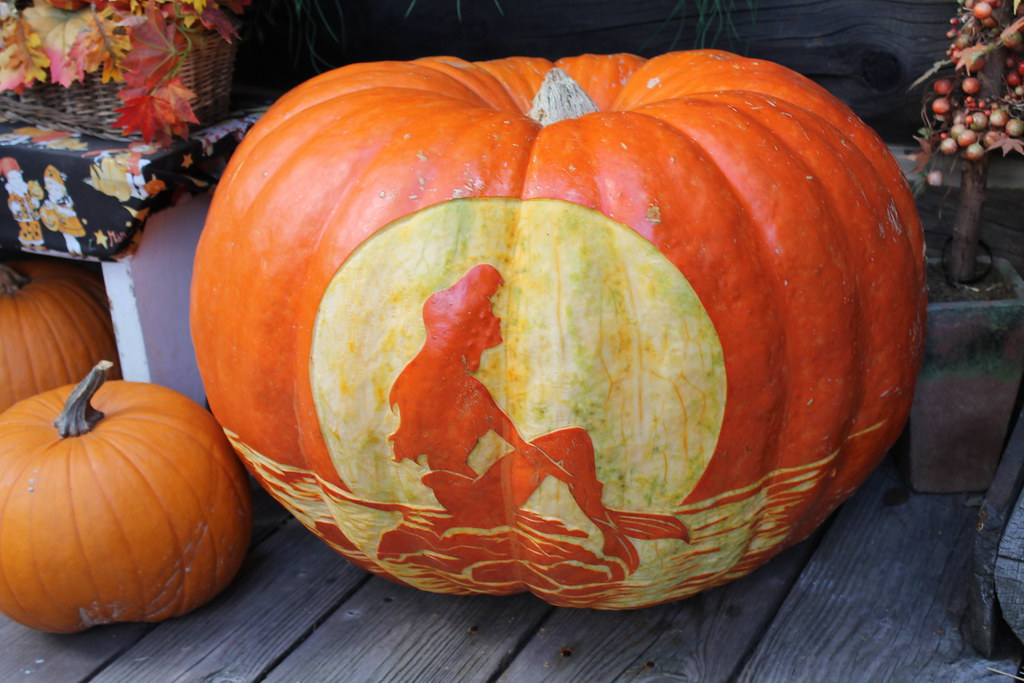Little Mermaid pumpkin at Big Thunder Ranch Halloween Roun