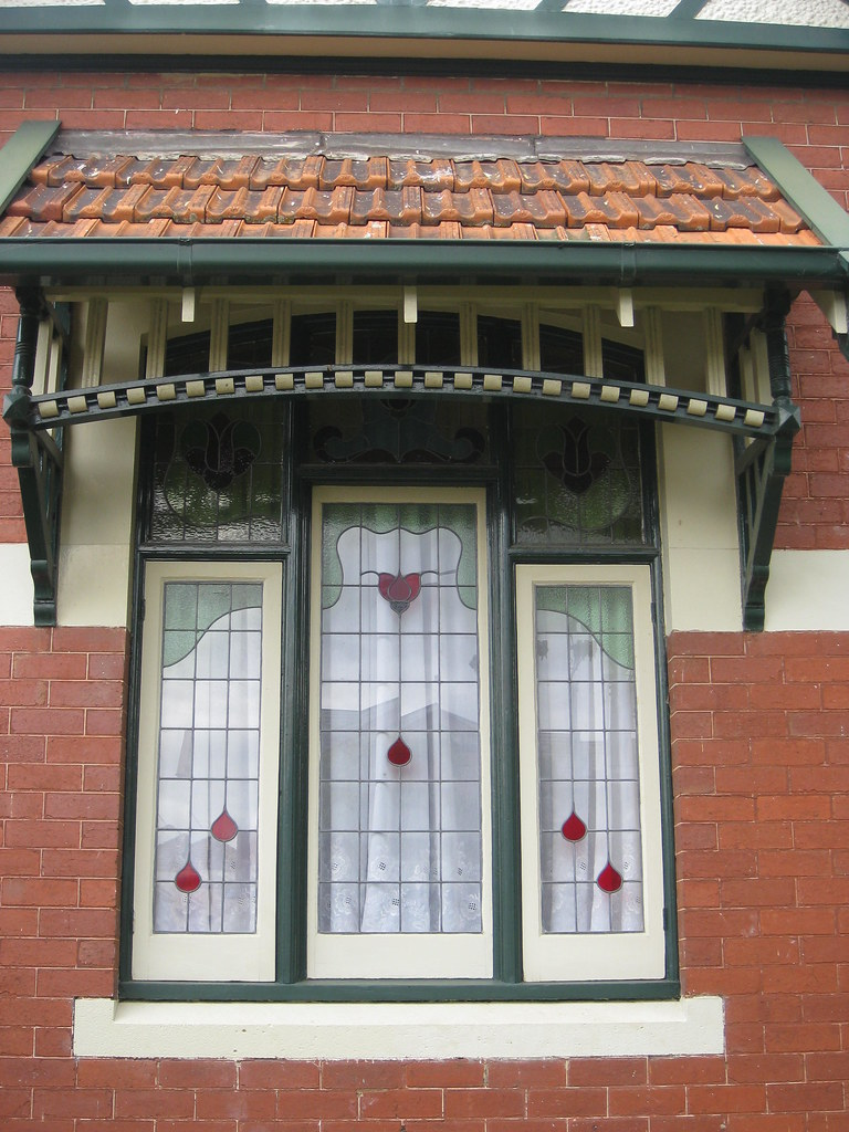 Art Nouveau Stained Glass Window  Moonee Ponds  This