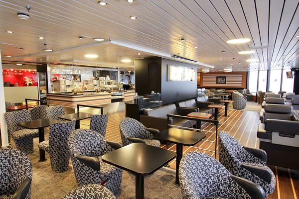 Barista Coffee House seating area for passengers  The