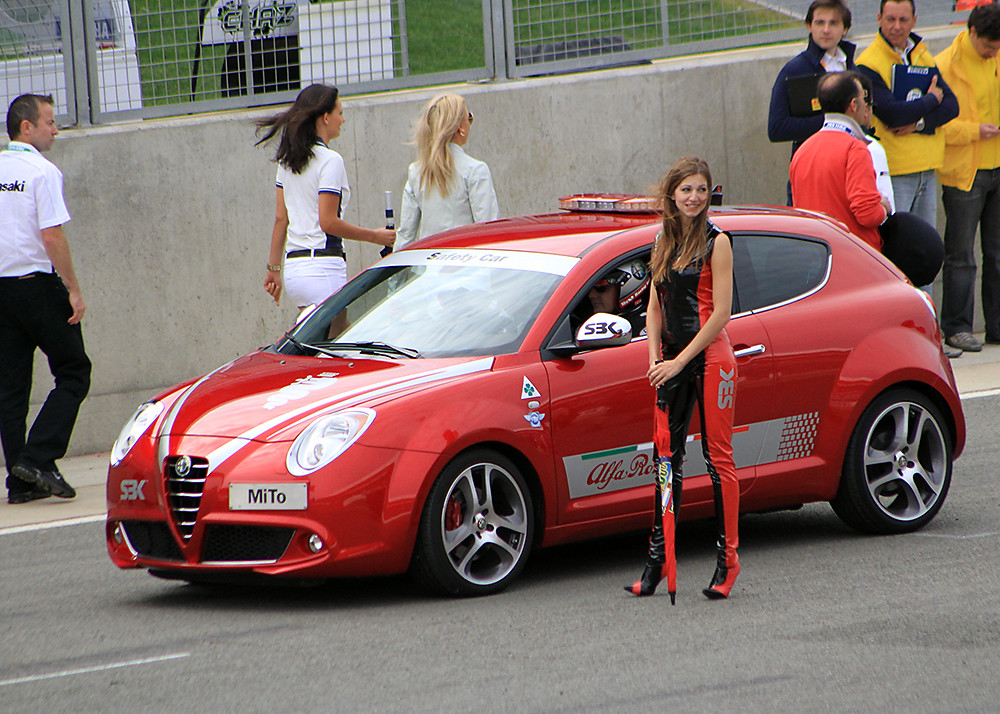 Girl And Car Wallpaper Subaru Alfa Romeo Quot Mito Quot Safety Car And Promotion Girl Silverst
