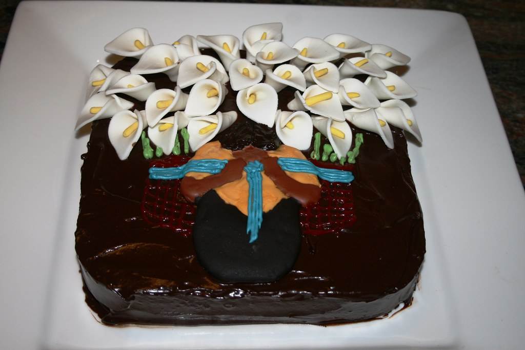 Calla Lily Vendor Cake  We have a reproduction of Diego