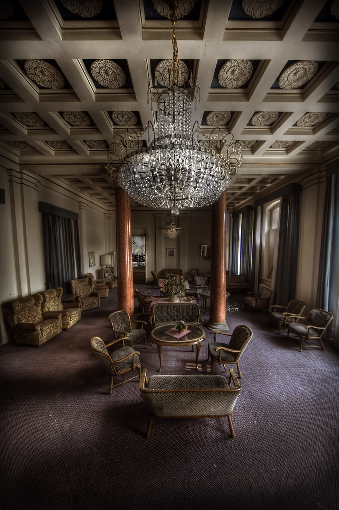 Grand lobby of the overlook abandoned hotel  This is one