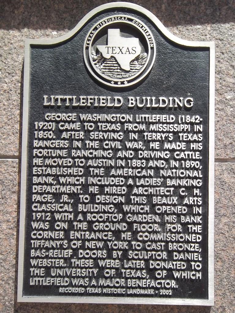 Littlefield Building Austin Texas Historical Marker  Flickr