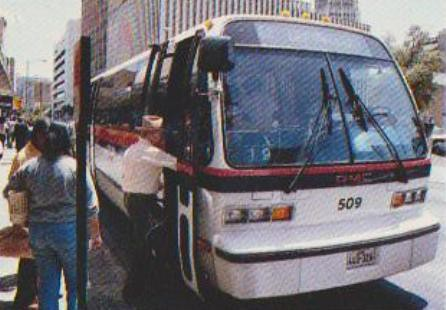 VIA TRANSIT GMC RTS 509  Rts bus 509 in downtown san