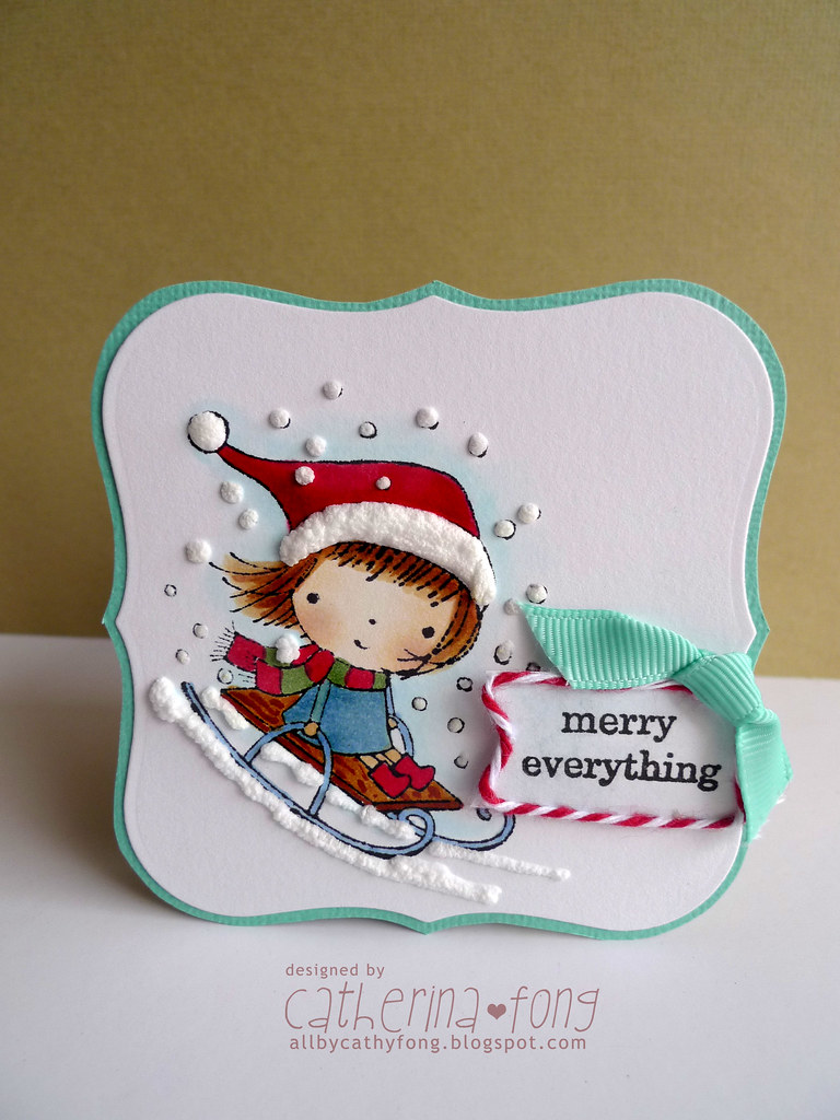 Merry Mimi Card A Simple Penny Black Card For