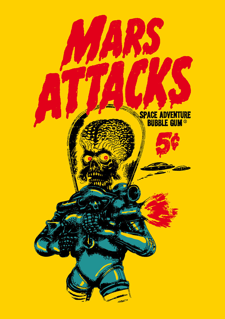 Mars Attacks Wrapper After The Trading Cards From 1962