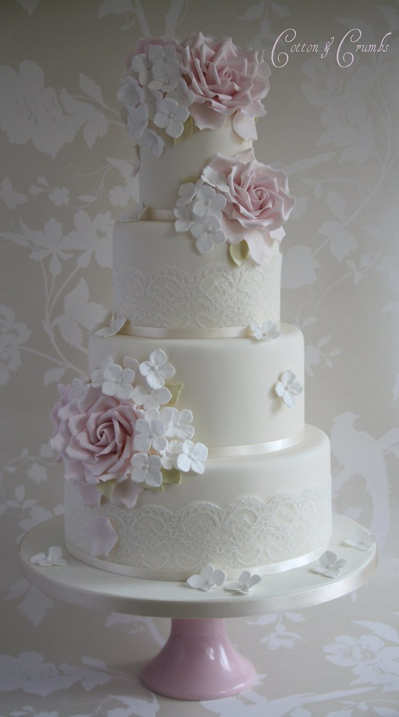 Rose  Hydrangea wedding cake  Inspired by Hester from