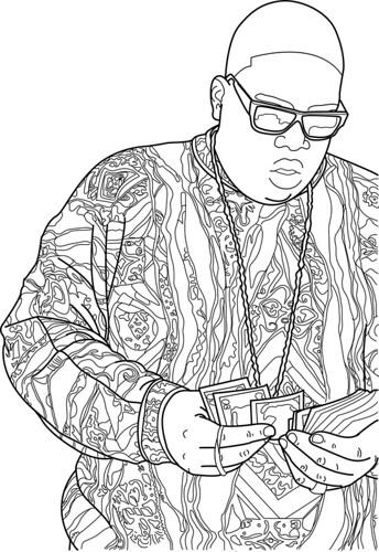 Biggie Smalls/Contour Drawing/Illustrator/Bamboo Pad/9 Hou