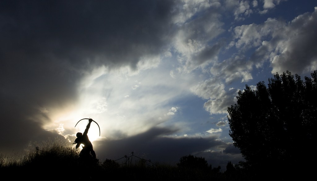 Sacred Rain Arrow Silhouette  Another one from the Denver B  Flickr