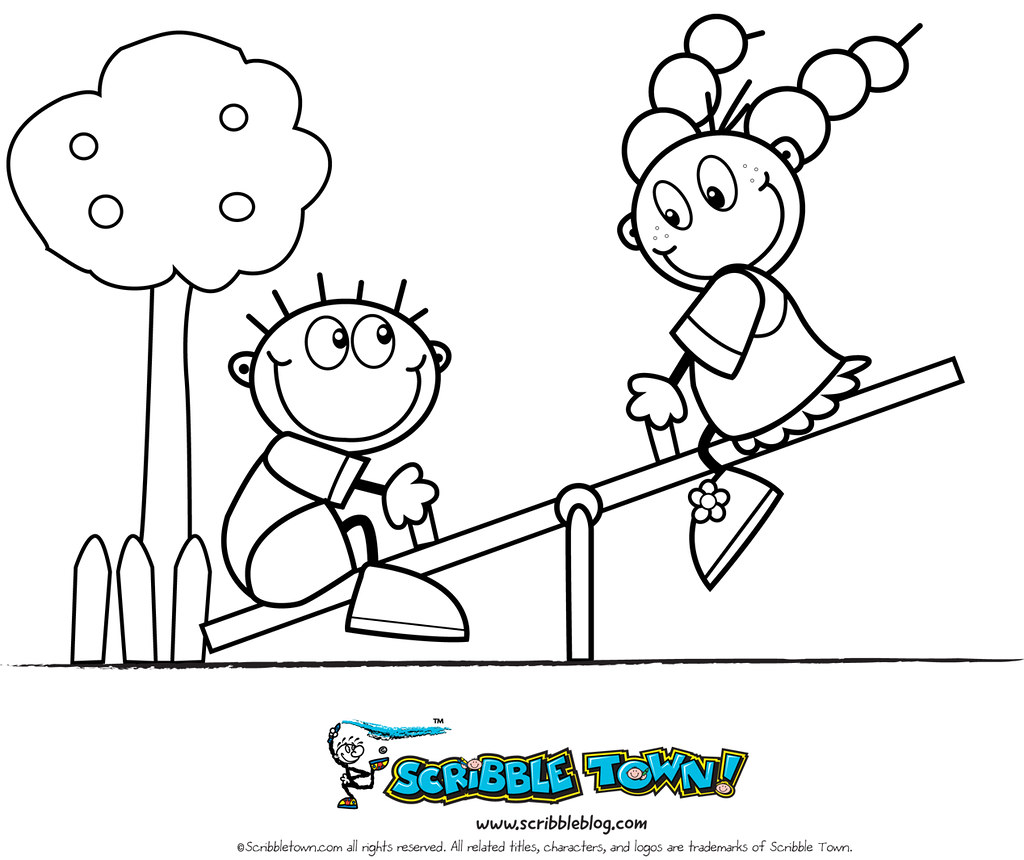 All Sizes Seesaw Coloring Page Flickr