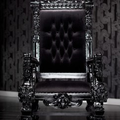 Purple Velvet Upholstered Sofa Repair Cost In Hyderabad 4061 Black Lacquer Baroque Throne Chair | Be The King Or ...