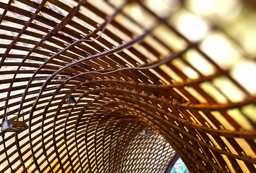 Square 3d Wallpaper Form And Function A Gridshell Is A Structure Which