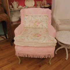 Chic Chair Covers Birmingham Windsor Seat Cushions French Shabby Pink Slipcover Vintage Chenille B