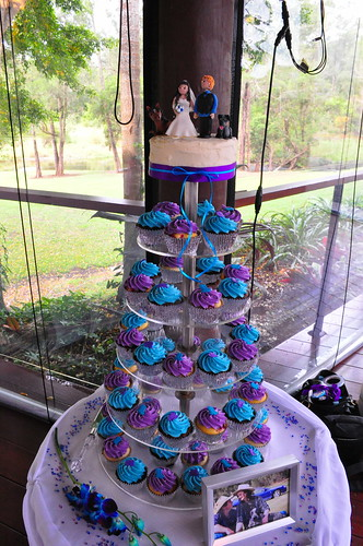 Purple and turquoise wedding cupcakes  Double choc mud and   Flickr