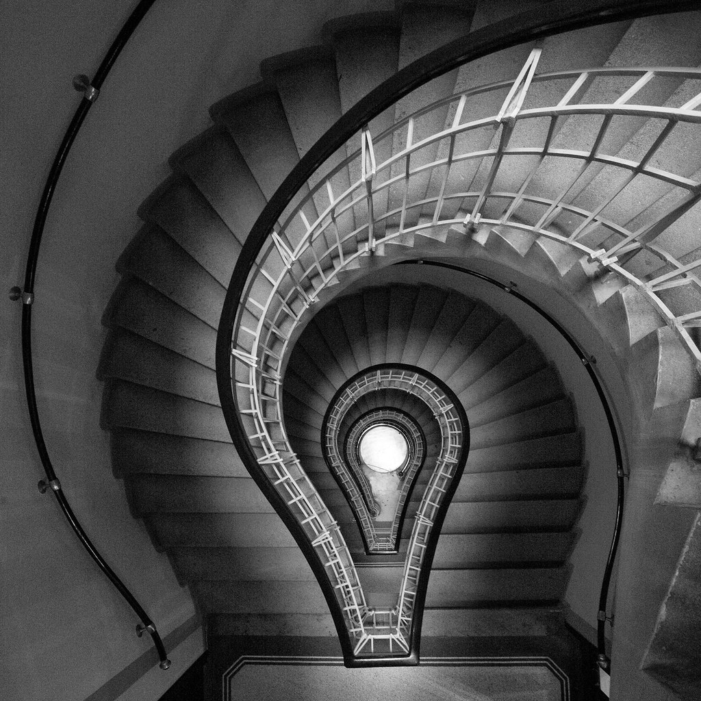 I have an idea  A beautiful Staircase from the Cubism