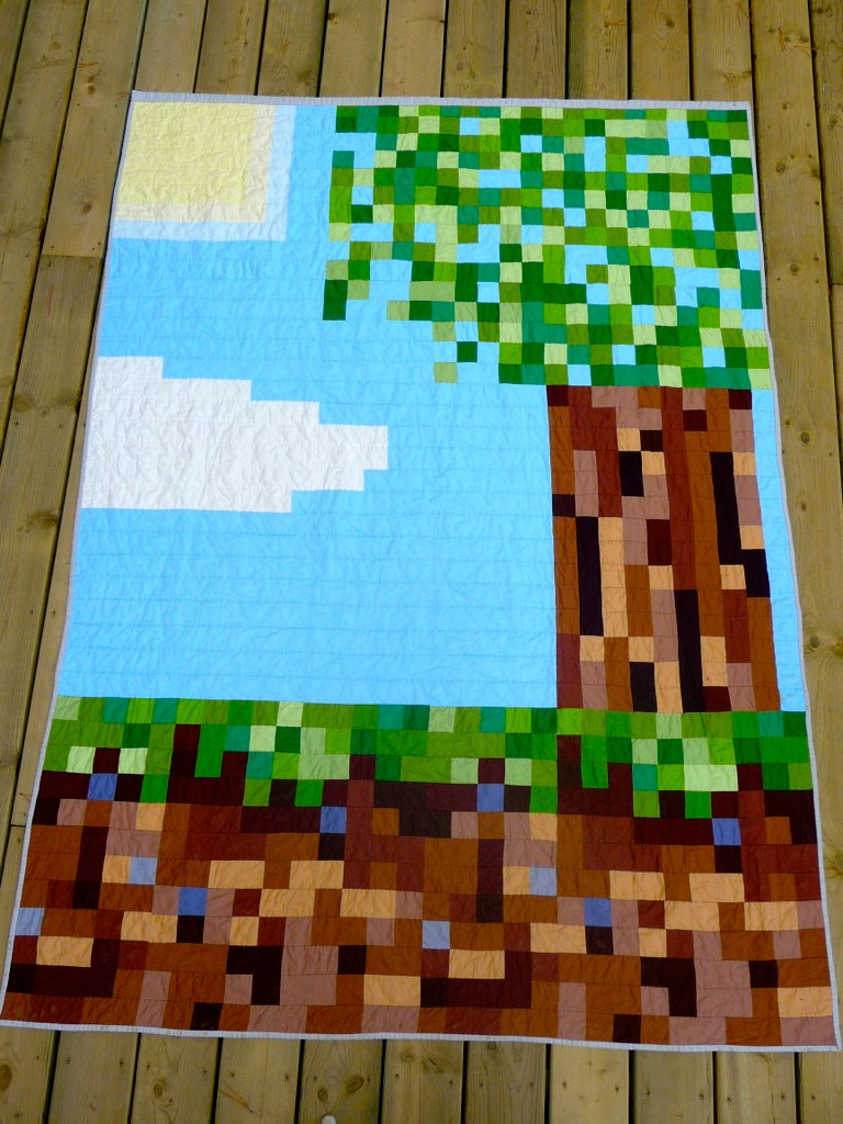 Minecraft Quilt Twin Sized Bed Quilt For My 13 Year Old So Flickr