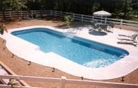 inground swimming pool rectangle 4ft radius concrete deck ...