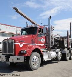 wyss logging kenworth t800 unit 14 by truck exposure [ 1024 x 768 Pixel ]