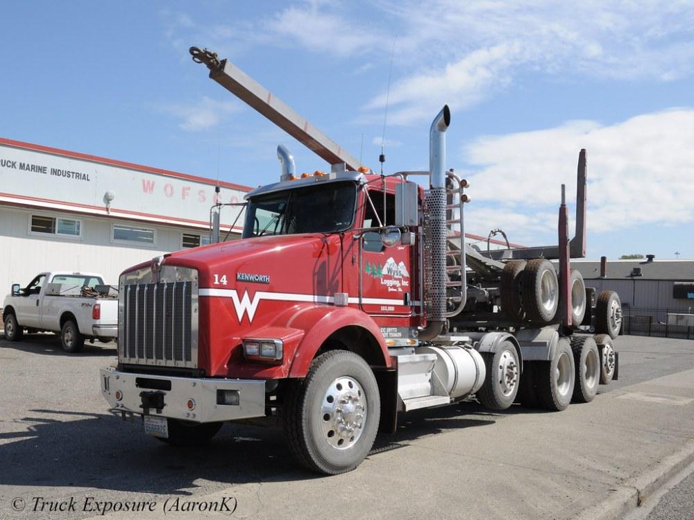 medium resolution of  wyss logging kenworth t800 unit 14 by truck exposure