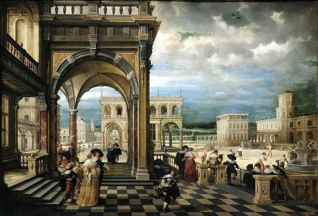 3d Interior Wallpaper Hd Hendrik Van Steenwijck Ii Italian Palace 1623