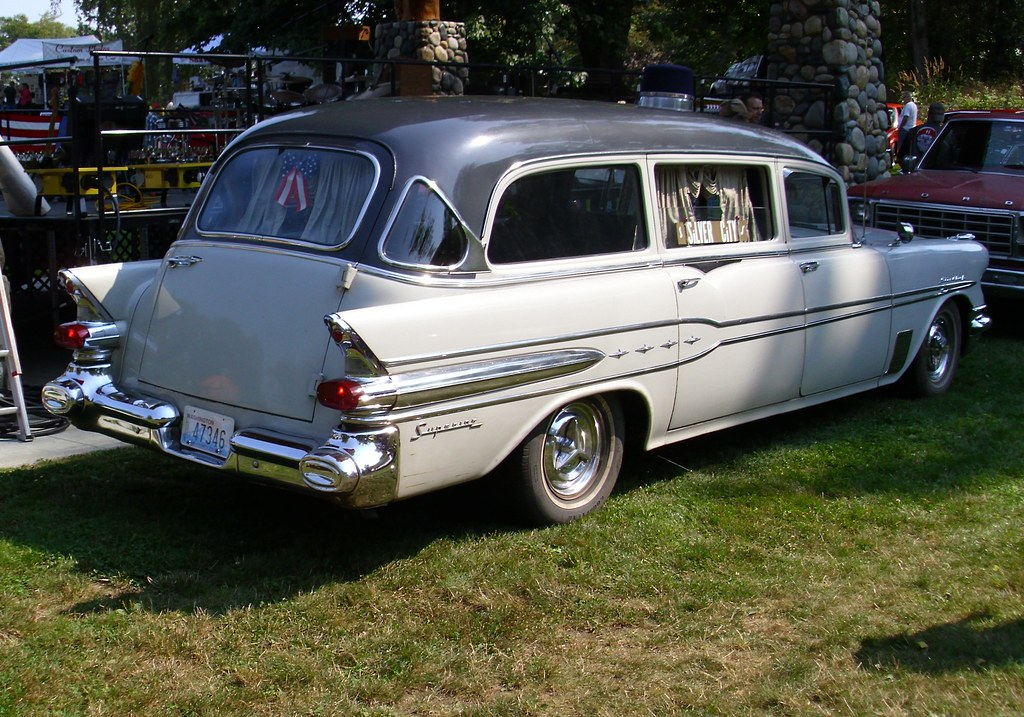 Car Wallpaper In 3d Founders Day Car Show 1957 Pontiac Superior Hearse I