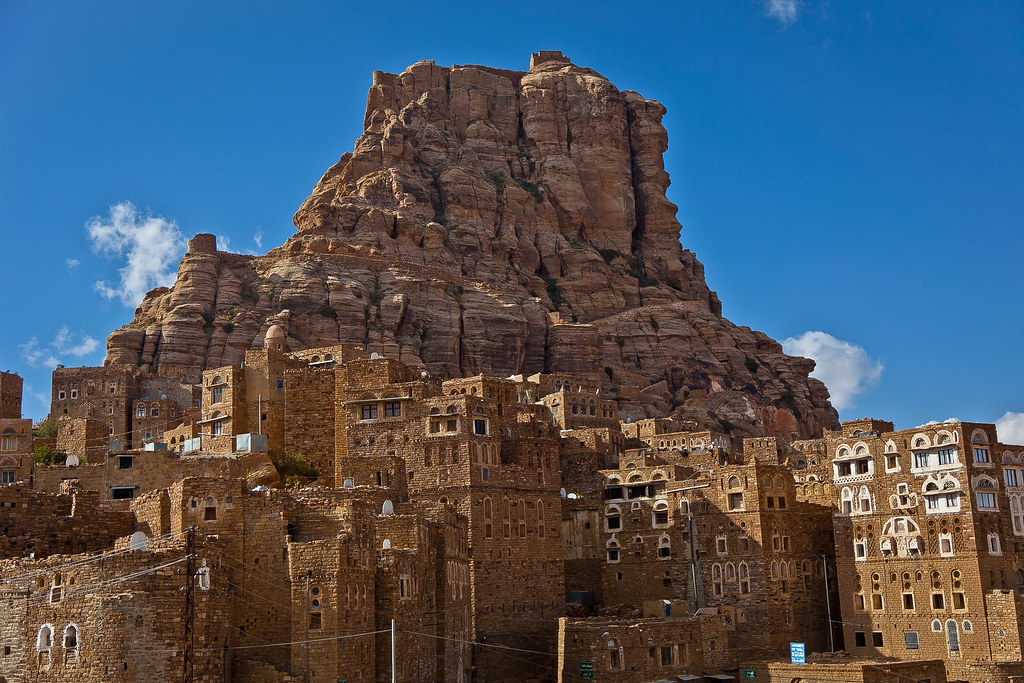 Thula The Traditional Village Yemeni In Mountain Haraz Une