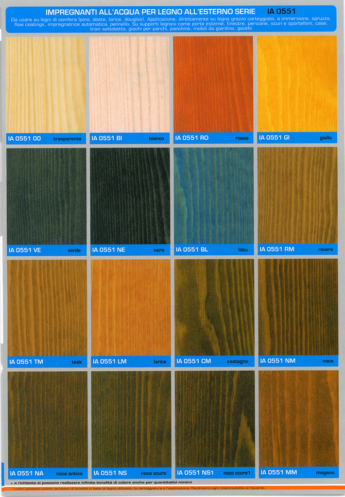 Cartella Colori IA 0551 XX impregnante allacqua per legni