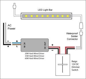 Reign 12V LED Dimmer Switch wiring diagrams | Elemental
